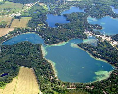 Photograph - R-012 Round Mccrossen Dake Minor Lakes Waupaca Wisconsin by Bill Lang