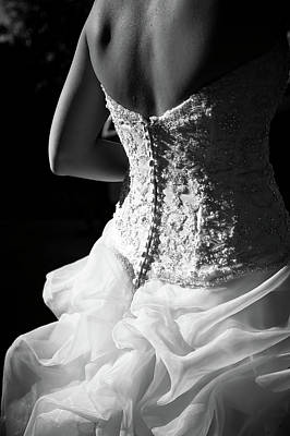 Wedding Dress Photograph - Rear View Of Bride by John B. Mueller Photography