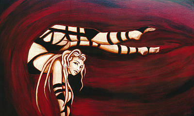 Painting - Red Contort by Brenda Kato