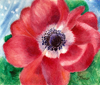 Painting - Red Poppy by Brenda Thour