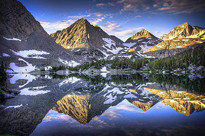 Reflection Of Mountain In Lake Art Print