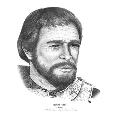 Camelot Drawing - Richard Harris by Rae Holbrook