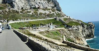 Photograph - Rock Of Gibraltar Cliff Uk Territory by John Shiron