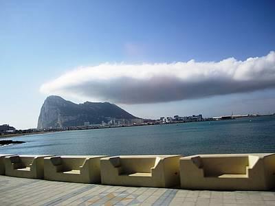 Photograph - Rock Of Gibraltar Cloud II Uk Territory by John Shiron
