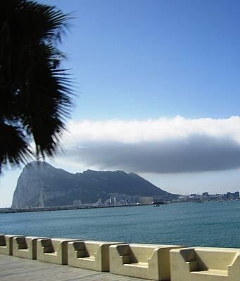 Photograph - Rock Of Gibraltar Clouds Uk Territory by John Shiron