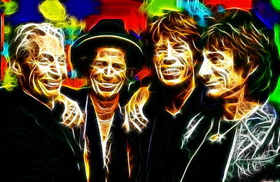 Rolling Stones Mystical Art Print by Paul Van Scott