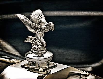 British Digital Art - Rolls Royce Hood Ornament by Douglas Pittman