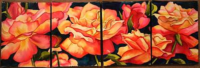 Painting - Rose Canvas by Diane Ziemski