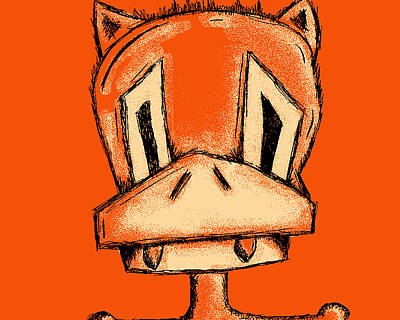 Fuzzy Digital Art - Rucky The Vampire Duck by Jera Sky