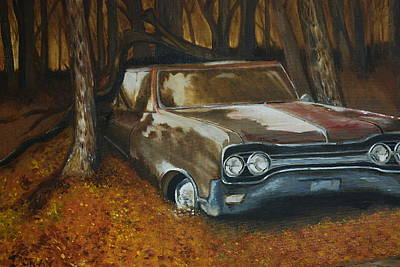Painting - Rusty Car by Ryan Doray