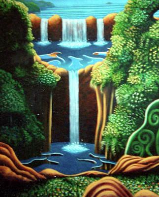 Saltwater Falls 3 Art Print by Barbara Stirrup