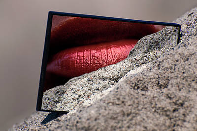 Photograph - Sandy Lips by Michael Mogensen