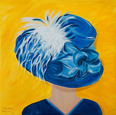 Kentucky Derby Painting - Sara's 2011 Derby Hat by Dani Altieri Marinucci