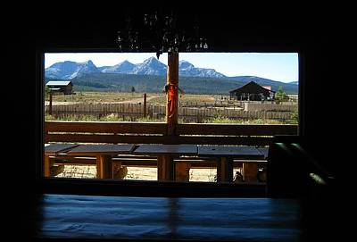 Photograph - Sawtooth Ranch From Lodge Porch by Sherry Oliver