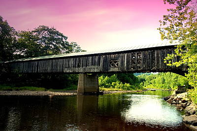 Photograph - Scott Bridge In Pink by Emily Stauring