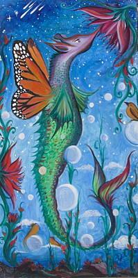Painting - Seadragon by Elizabeth Zaikowski