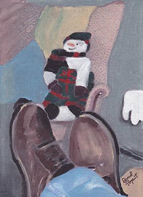 Self Portrait Art Print by David Poyant