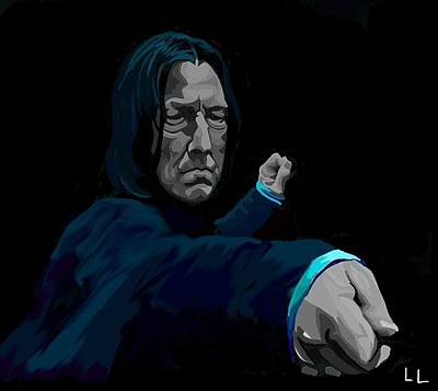Deathly Hallows Digital Art - Severus by Lisa Leeman