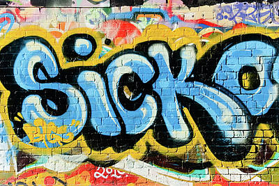 Vandalize Painting - Sicko-graffiti On The Wall by Yurix Sardinelly