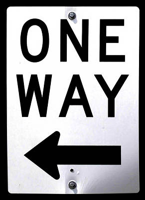 Photograph - Sign-one-way by Michael Flood