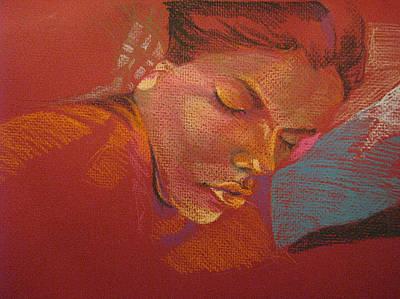 Sleeping Figure  Art Print