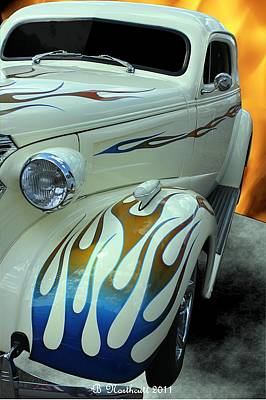 Smokin' Hot - 1938 Chevy Coupe Art Print by Betty Northcutt