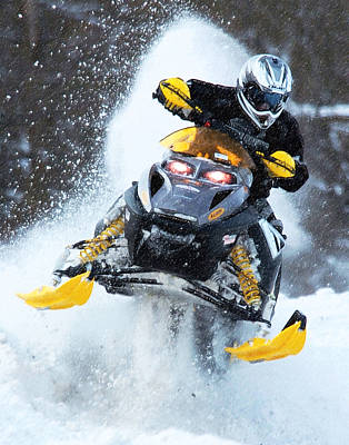 Snocross Art Print by Wade Aiken