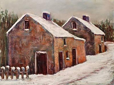 Snow Fall In Ireland Art Print by Joyce A Guariglia