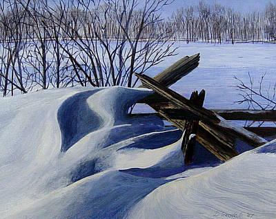 Snow Sculpture Art Print by Doug Goodale