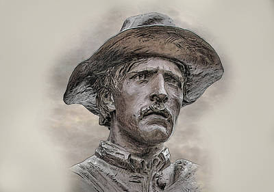 Infantry Digital Art - Son Of The Confederacy Portrait by Randy Steele