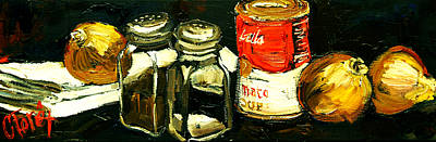 Pepper Painting - Soup Tonight by Carole Foret