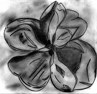 South Louisiana Drawing - Southern Magnolia Blossom by Elizabeth Briggs