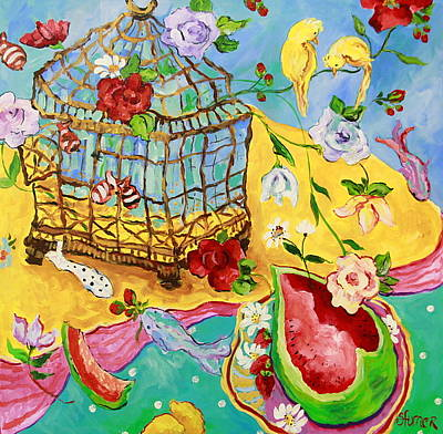 Painting - Springtime Romance by Sharon Furner
