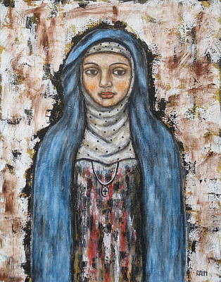Devotional Painting - St. Monica by Rain Ririn