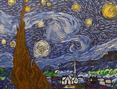 Painting - Starry Night - An Ode To Vincent by Joshua Redman
