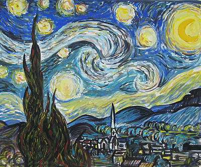 Replica Painting - Starry Starry Night Copy by Sarah Huttu