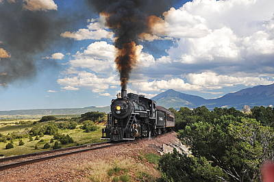 Steaming Towards La Veta Art Print