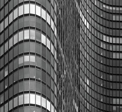 Steel And Glass Curtain Wall Art Print by Photo by John Crouch