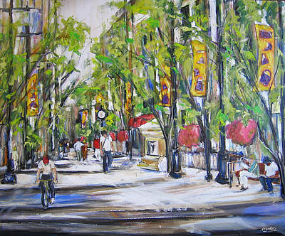 Painting - Stephen St View- Calgary by Debora Cardaci