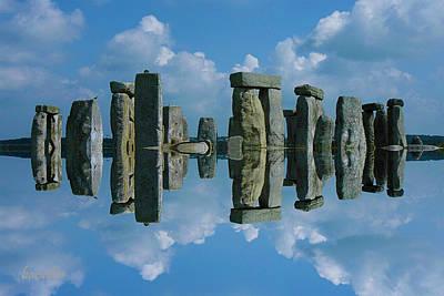 Stonehenge Digital Art - Stonehenge Reflection I by Betsy Knapp