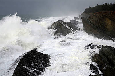 Fury Photograph - Storm On The Oregon Coast by Bob Christopher