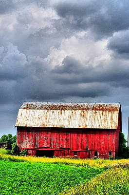 Farm Scenes Photograph - Stormy Red by Emily Stauring
