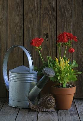 Art Print featuring the photograph Summer Geraniums by Dodie Ulery