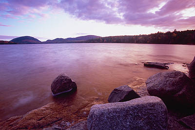 Mt. Desert Island Photograph - Sunset Afterglow At Eagle Lake by George Oze