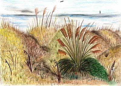 Sunset Beach Sea Side Art Print