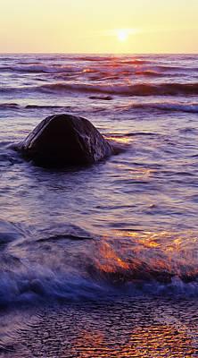 Sunrise Photograph - Sunset Lights by Konstantin Dikovsky