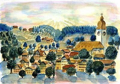 Swiss Village Art Print