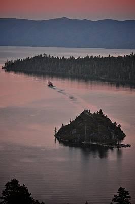Photograph - Tahoe Queen Steams Out Of Emerald Bay by Matt MacMillan