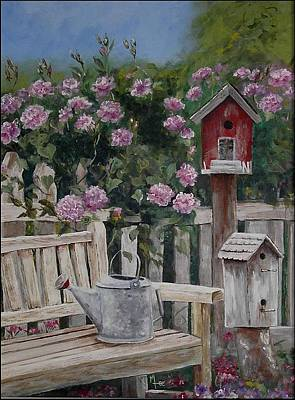 Painting - Take A Seat by Mary-Lee Sanders