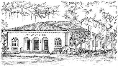 Painting - Tallahassee Womens Club by Audrey Peaty